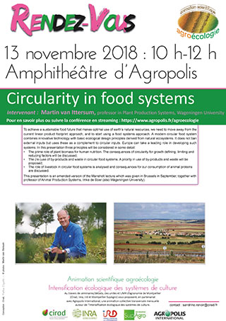 Save the date : Scientific animation on Agroecology - Ecological intensification of cropping systems