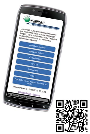 version mobile site web agropolis international