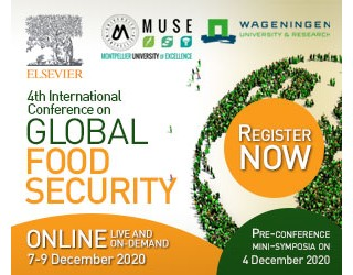 Covid-19 pandemic/Postponement of the 4th International Conference on Global Food Security : New date 06-09 December 2020, Montpellier