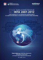 INTA bibliometric survey (2007-2012) - Cartography of international collaborations involving INTA, Instituto nacional de tecnologia agropecuaria (Argentina) - in French