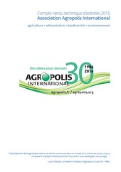 compte rendu technique d'activites d'Agropolis International 2015