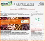 E-Sciences Vertes - Septembre 2016 - n°50