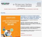 E sciences vertes - lettre d'Agropolis International, septembre 2017