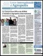 lettre internationale d'agropolis international