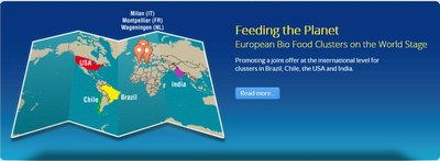 Site web du projet Feeding the planet - European Bio Food Clusters on the World Stage